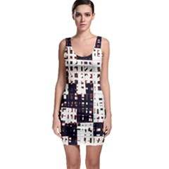 Abstract city landscape Sleeveless Bodycon Dress