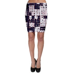 Abstract city landscape Bodycon Skirt