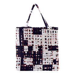 Abstract city landscape Grocery Tote Bag