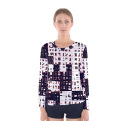 Abstract city landscape Women s Long Sleeve Tee