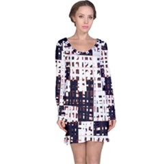 Abstract city landscape Long Sleeve Nightdress
