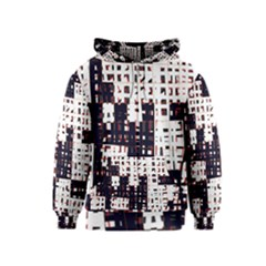 Abstract city landscape Kids  Zipper Hoodie