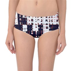 Abstract city landscape Mid-Waist Bikini Bottoms
