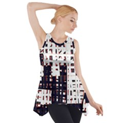 Abstract city landscape Side Drop Tank Tunic