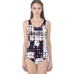 Abstract city landscape One Piece Swimsuit