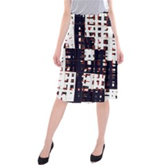 Abstract city landscape Midi Beach Skirt
