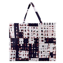 Abstract city landscape Zipper Large Tote Bag