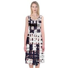 Abstract city landscape Midi Sleeveless Dress