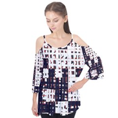 Abstract City Landscape Flutter Tees