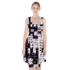 Abstract city landscape Racerback Midi Dress