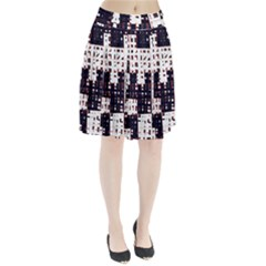 Abstract city landscape Pleated Skirt