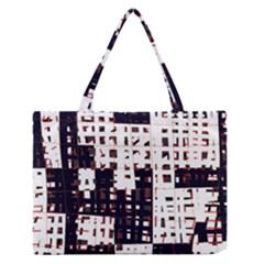 Abstract city landscape Medium Zipper Tote Bag