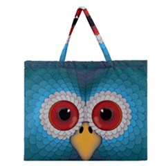 Bird Eyes Abstract Zipper Large Tote Bag