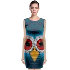 Bird Eyes Abstract Classic Sleeveless Midi Dress