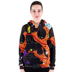 Orange dream Women s Zipper Hoodie