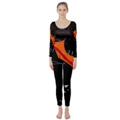 Orange dream Long Sleeve Catsuit