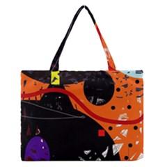 Orange Dream Medium Zipper Tote Bag