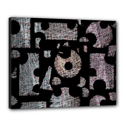 Elegant puzzle Canvas 20  x 16