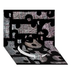 Elegant puzzle Circle Bottom 3D Greeting Card (7x5)