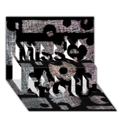 Elegant Puzzle Miss You 3d Greeting Card (7x5)
