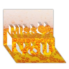 Beer Alcohol Drink Drinks Miss You 3D Greeting Card (7x5)