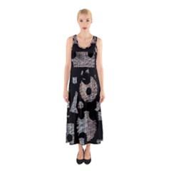 Elegant puzzle Sleeveless Maxi Dress