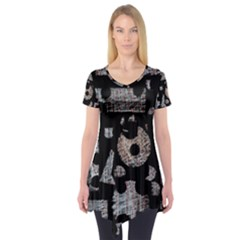 Elegant puzzle Short Sleeve Tunic