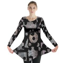 Elegant puzzle Long Sleeve Tunic
