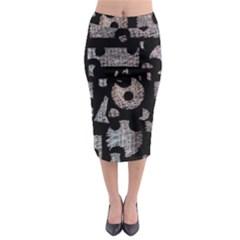 Elegant puzzle Midi Pencil Skirt