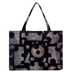 Elegant Puzzle Medium Zipper Tote Bag