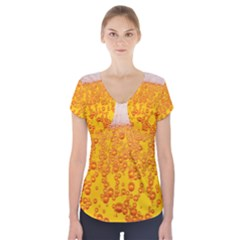 Beer Alcohol Drink Drinks Short Sleeve Front Detail Top