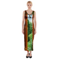 Beautiful World Entry Door Fantasy Fitted Maxi Dress