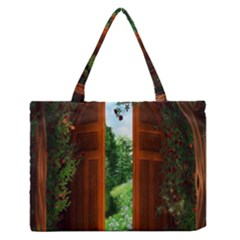 Beautiful World Entry Door Fantasy Medium Zipper Tote Bag