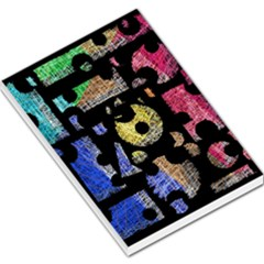 Colorful puzzle Large Memo Pads