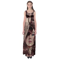 Beautiful Women Fantasy Art Empire Waist Maxi Dress