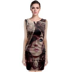 Beautiful Women Fantasy Art Classic Sleeveless Midi Dress
