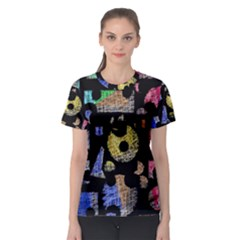 Colorful puzzle Women s Sport Mesh Tee