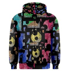 Colorful puzzle Men s Zipper Hoodie