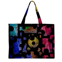 Colorful puzzle Zipper Mini Tote Bag