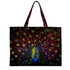 Beautiful Peacock Feather Large Tote Bag