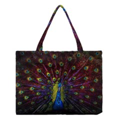 Beautiful Peacock Feather Medium Tote Bag
