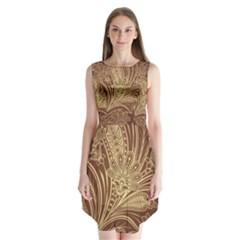 Beautiful Patterns Vector Sleeveless Chiffon Dress