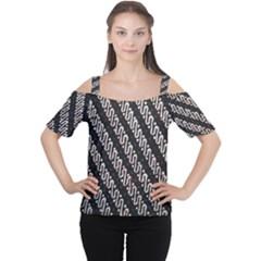 Batik Jarik Parang Women s Cutout Shoulder Tee