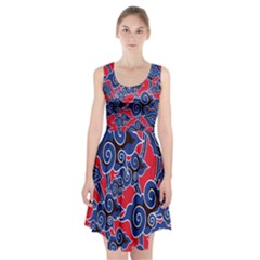 Batik Background Vector Racerback Midi Dress