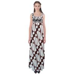 Batik Art Patterns Empire Waist Maxi Dress