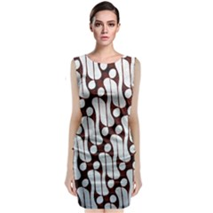 Batik Art Patterns Classic Sleeveless Midi Dress