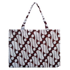 Batik Art Patterns Medium Zipper Tote Bag