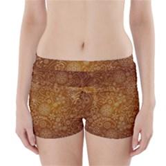 Batik Art Pattern Boyleg Bikini Wrap Bottoms