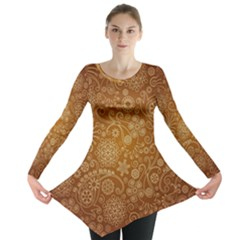 Batik Art Pattern Long Sleeve Tunic