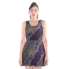 Batik Art Pattern  Scoop Neck Skater Dress